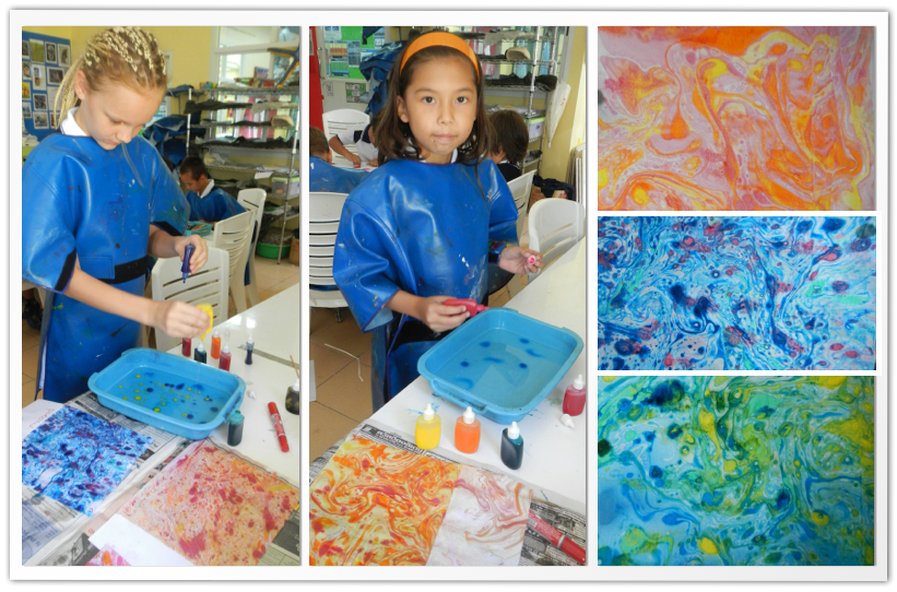 Year 5A Learns marble art