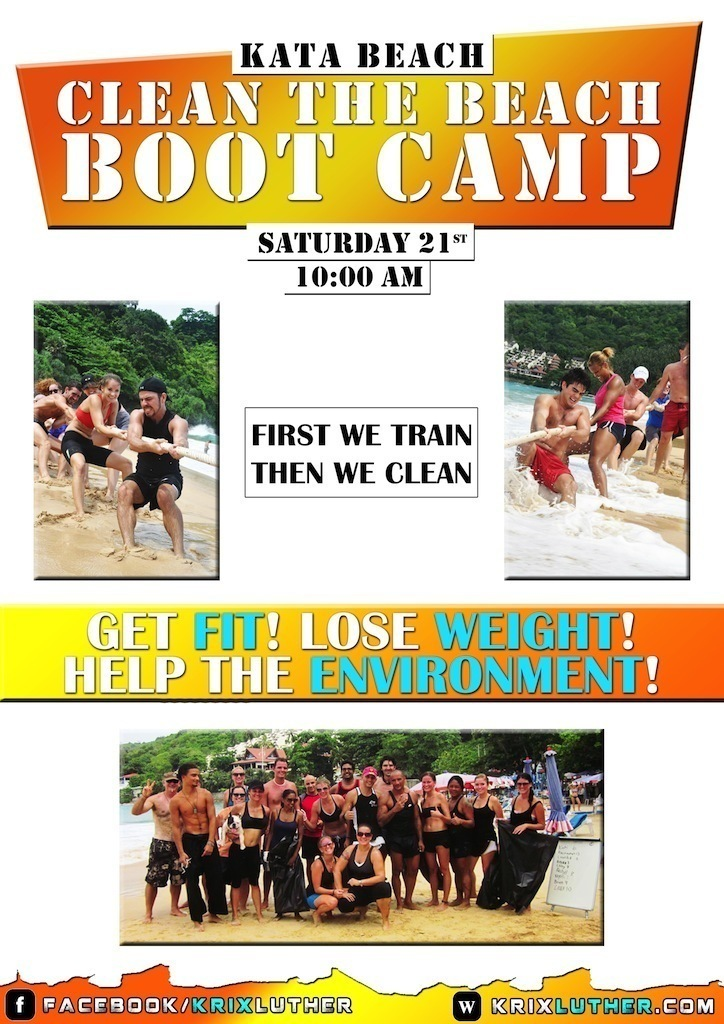 Beach Boot Camp Clean up 21st poster