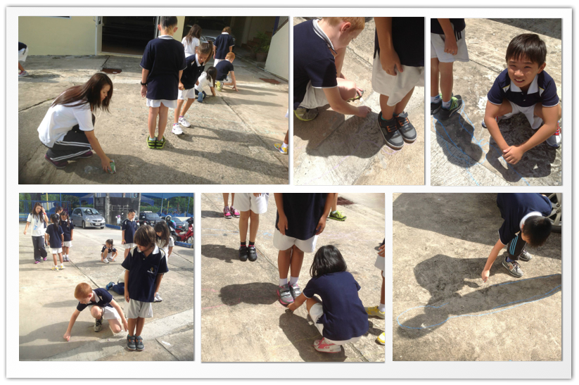 Year 5B learns about shadows