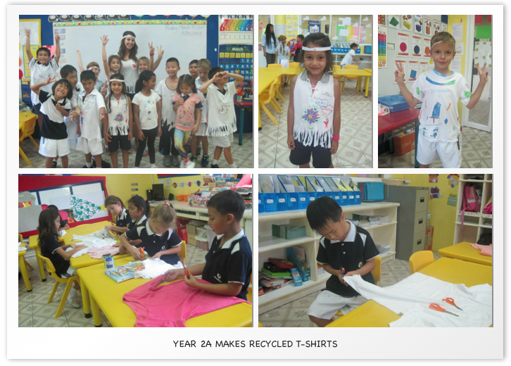 Year 2A makes recycled T Shirts
