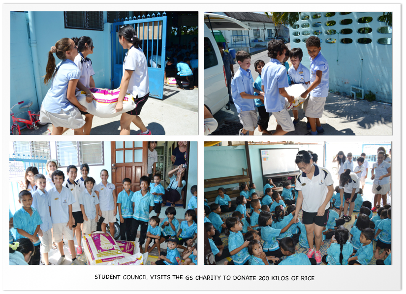 Student Council visits the GS charity to donate 200 kilos of rice