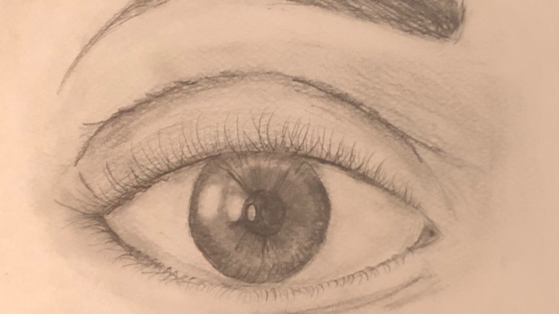 Eye reflection drawing Ms Leow 30 Mar BE 2563 18 00