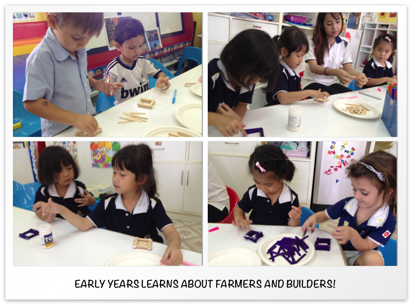 Early Years learns about Farmers and Builders