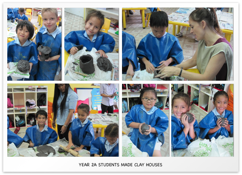 Year 2A students made clay houses