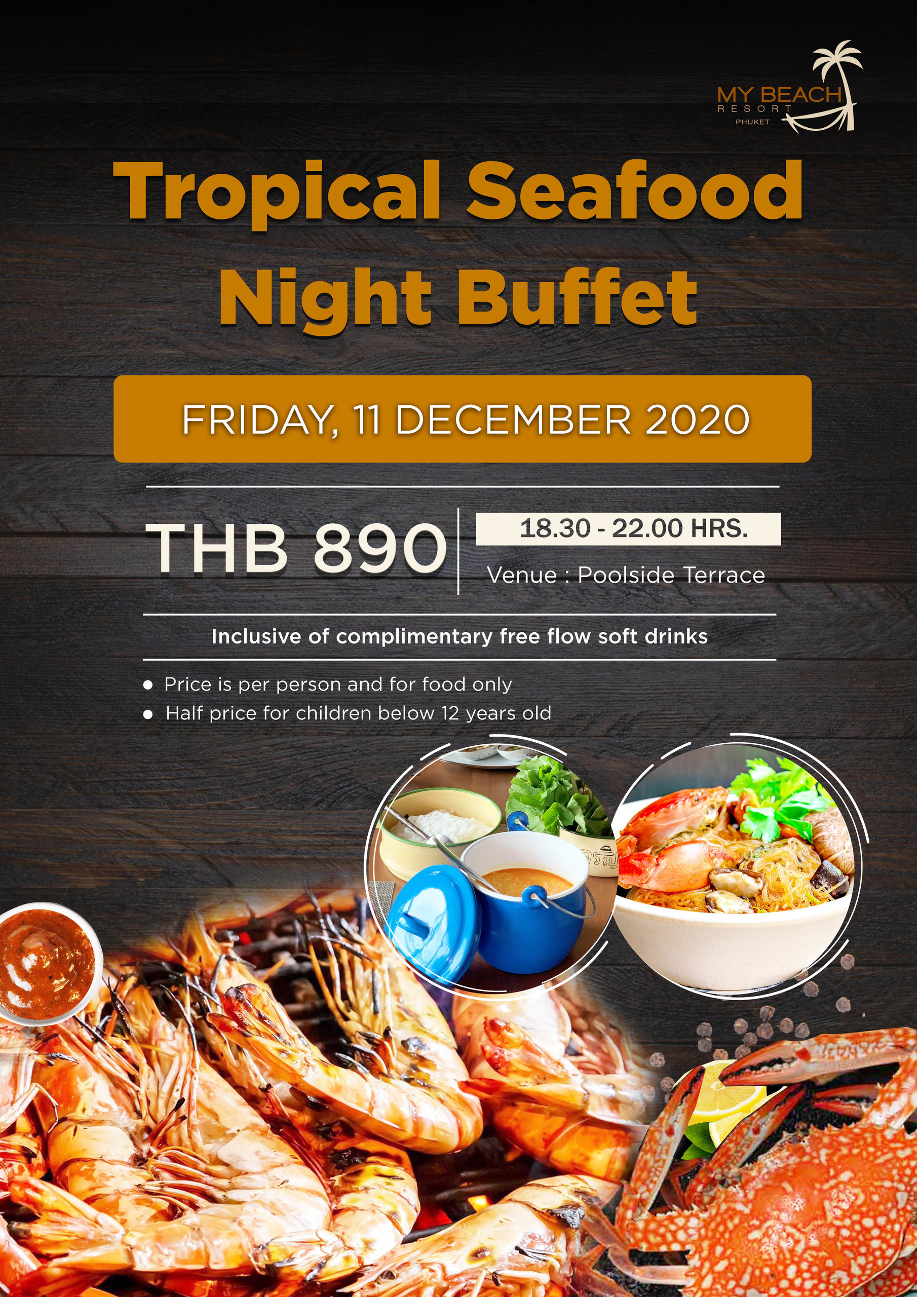 Tropical Seafood Buffet 11 Dec MyBeachResort