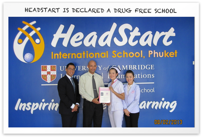 HeadStart is declared a drug free school2