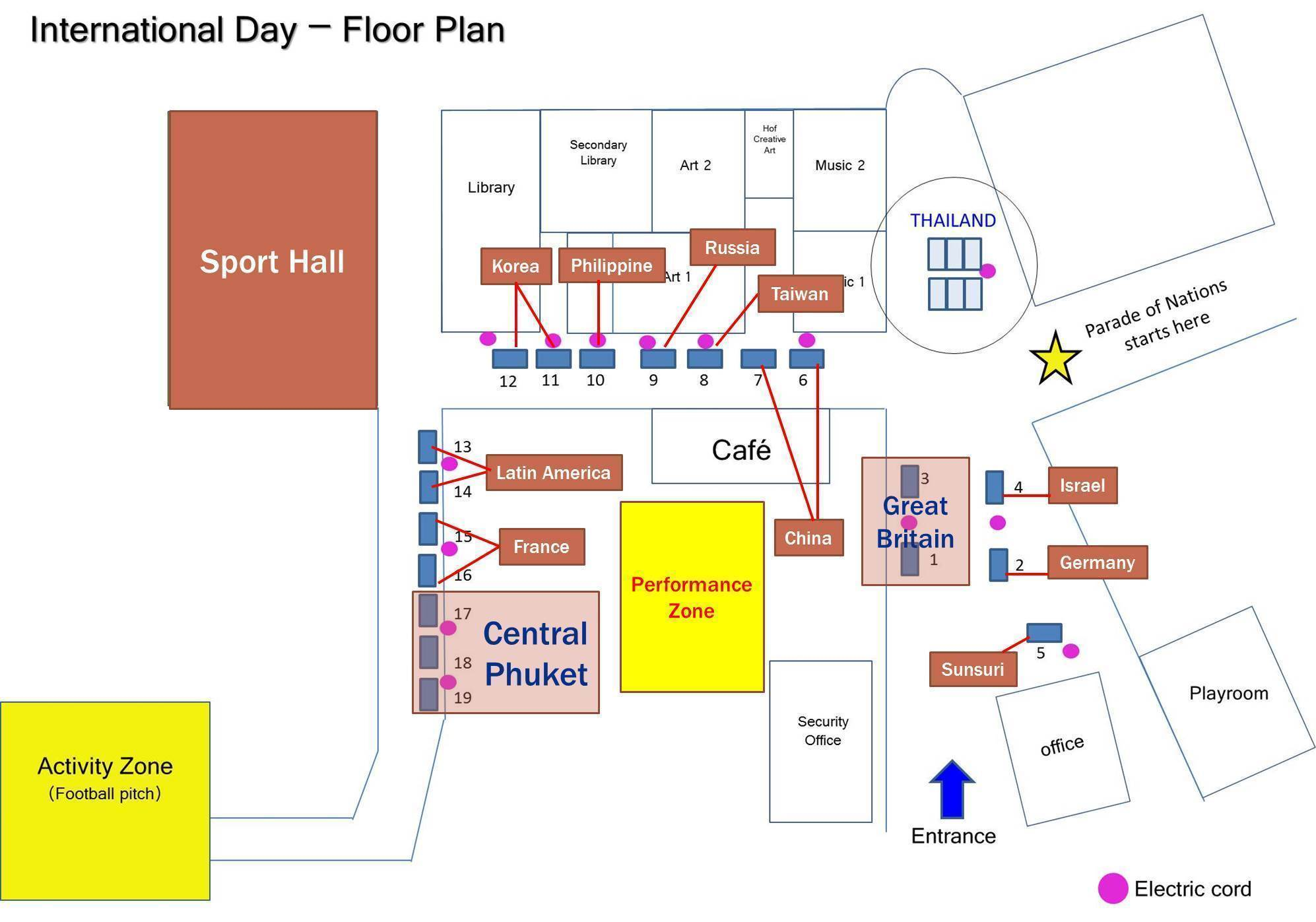 Internationa day Floor plan booked updated