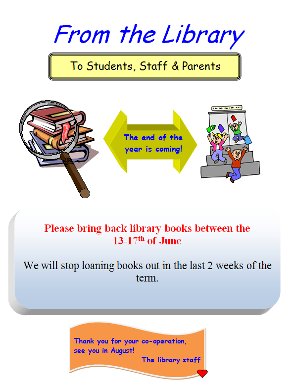 Library announcement