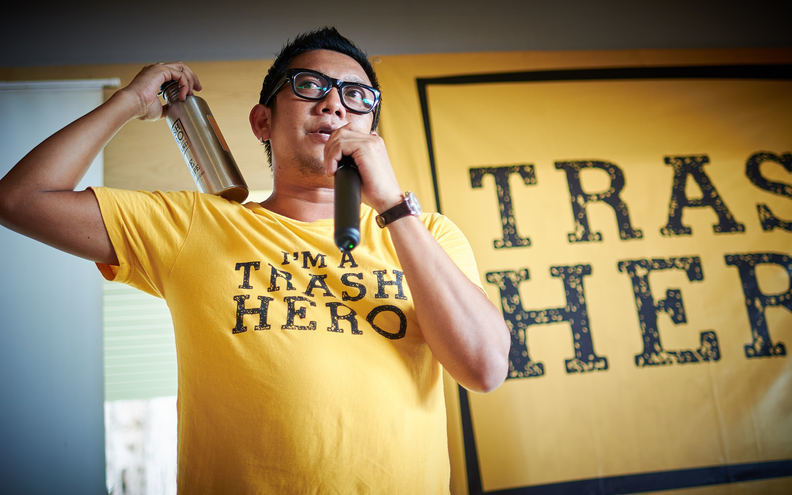 Khun Muuk leader of Trash Hero Thailand