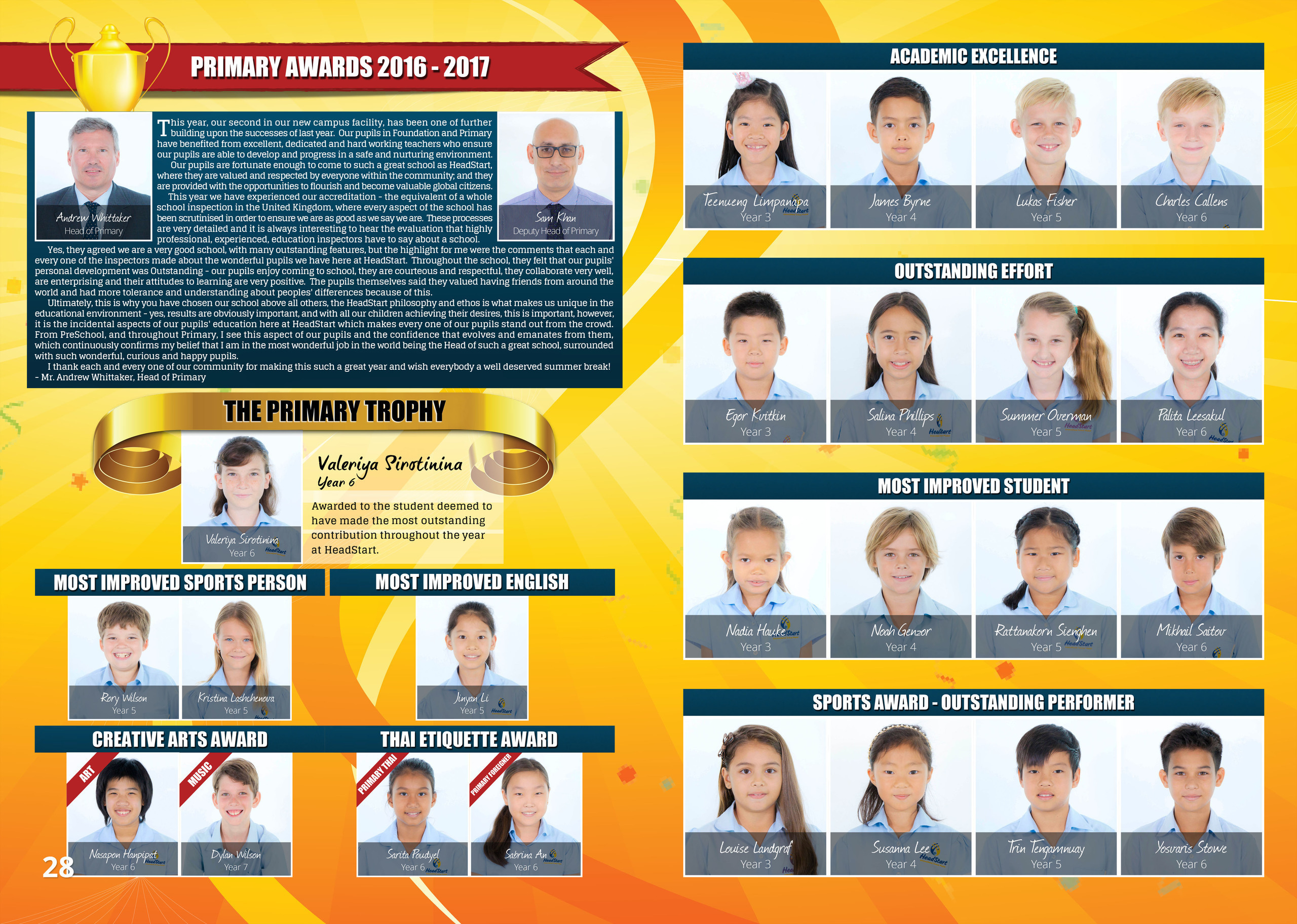 28 29 Primary Student Awards