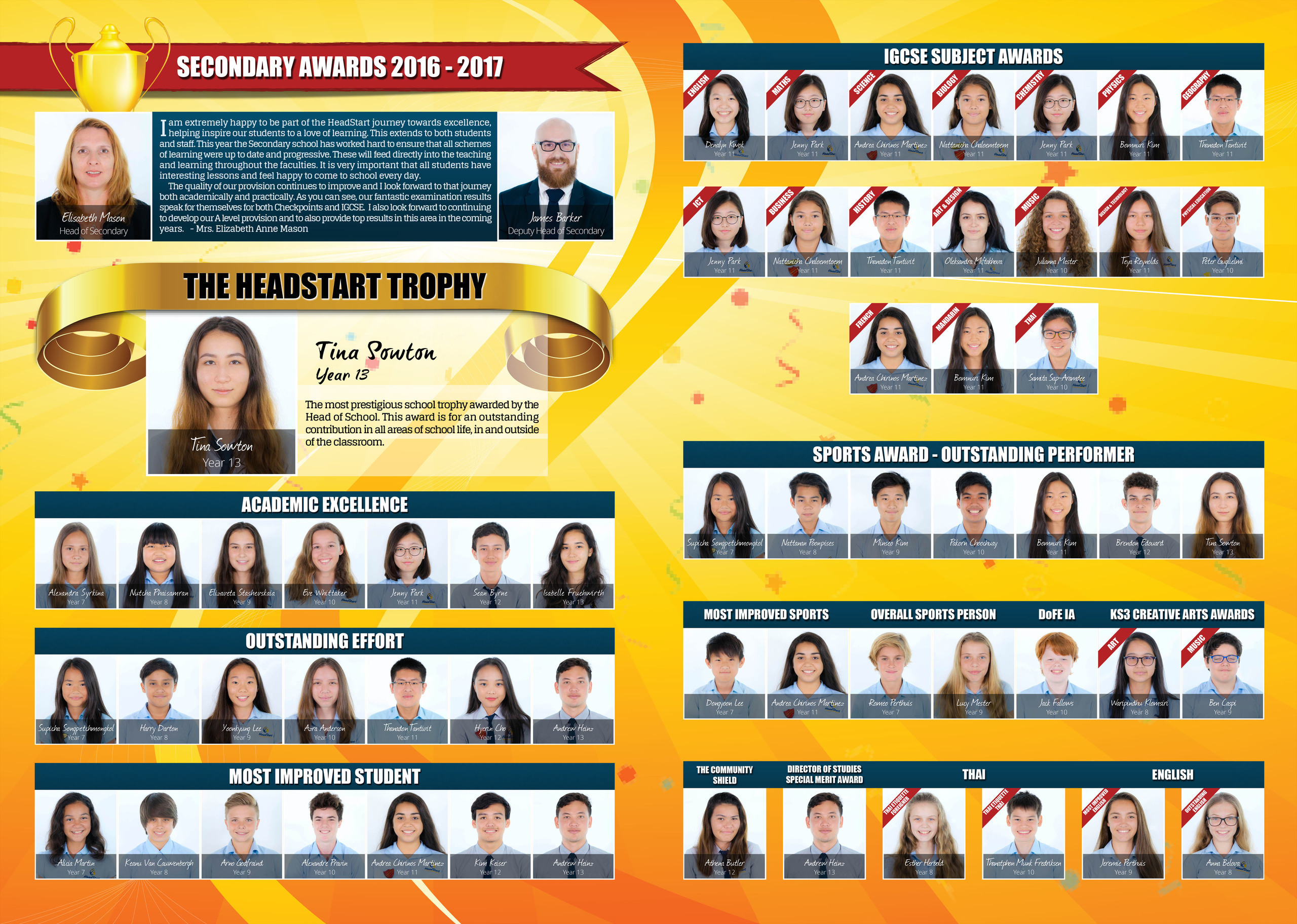 76 77 Secondary Student Awards