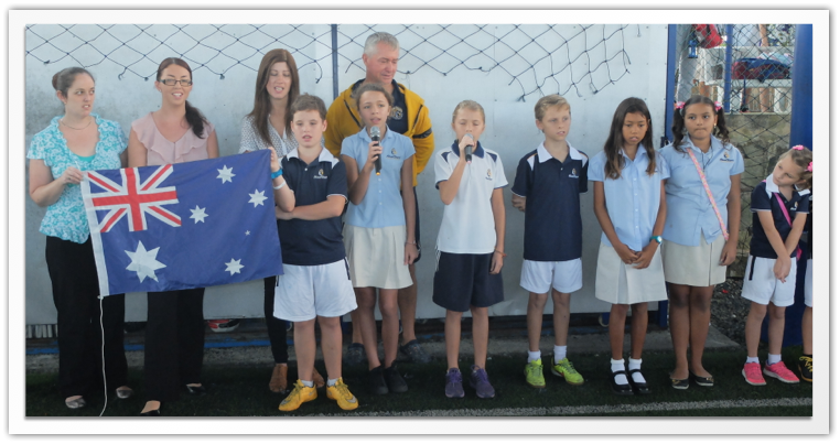 Australian Day Flag Raising