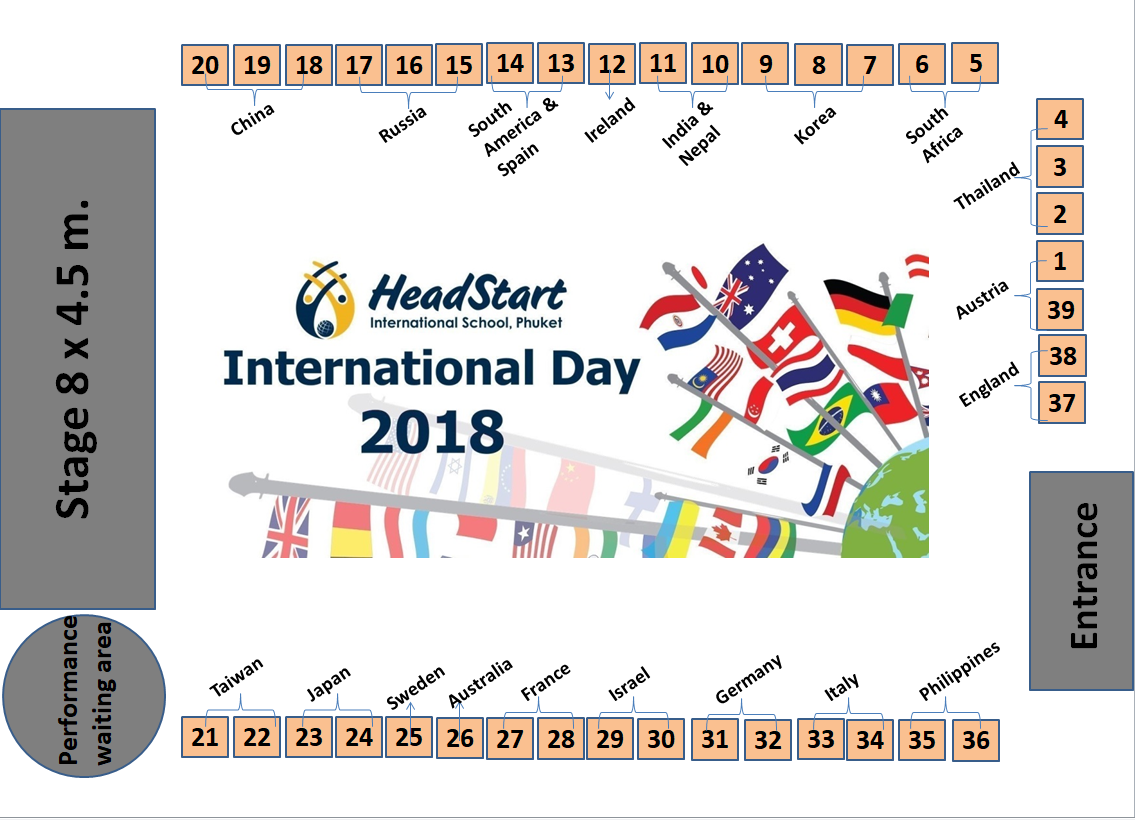 International Day final booking