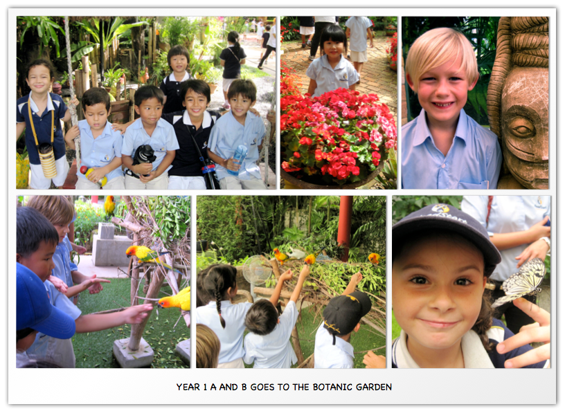 Year 1 A and B goes to the Botanic Garden