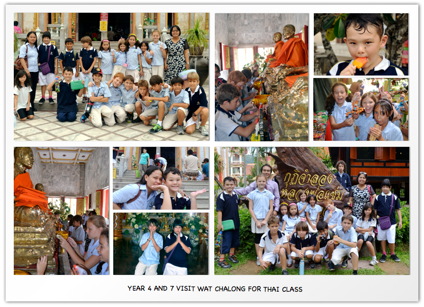 Year 4 and 7 visit Wat Chalong for Thai Class