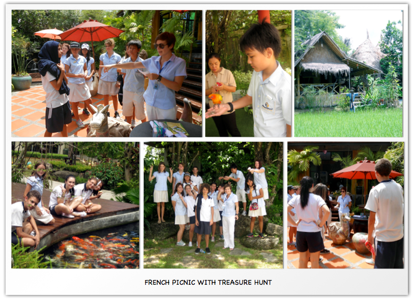 French Picnic with treasure hunt