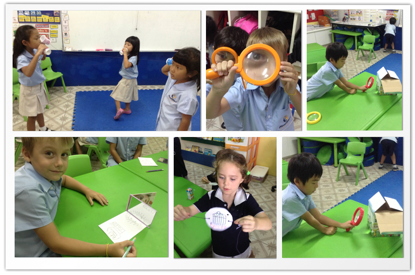 Year 1B experimenting with sight and sound