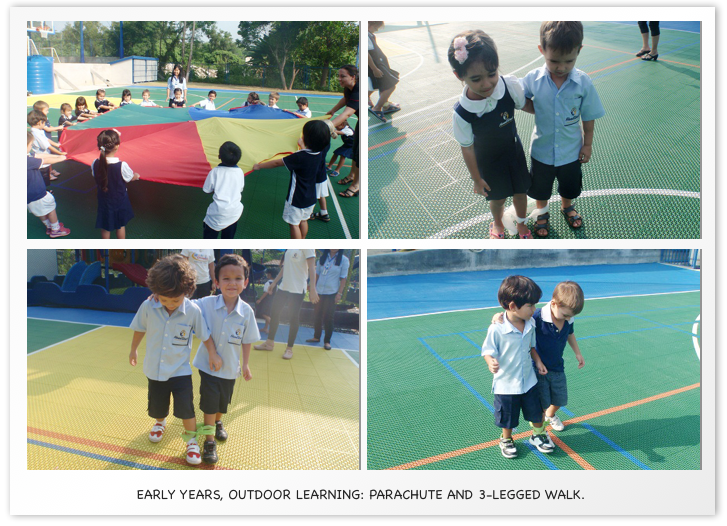 Early Years Outdoor Learning Parachute and 3 legged walk