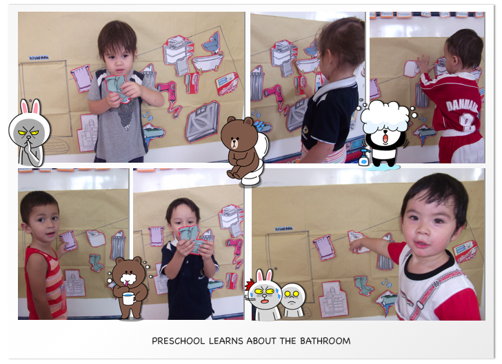 Preschool learns about the bathroom