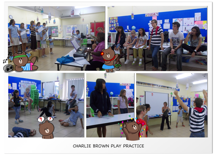 Charlie Brown Play Practice