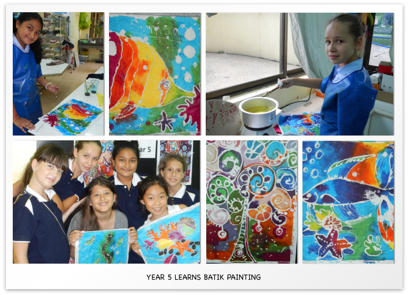 year 5 learns Batik Painting