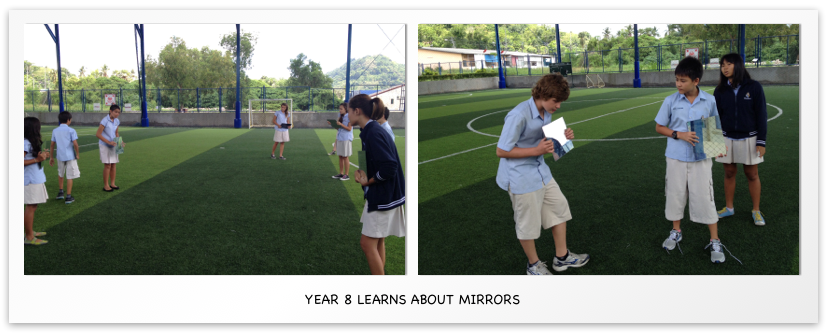 Year 8 Learns about mirrors