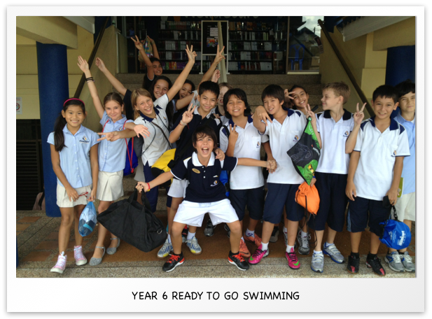 Year 6 ready to go swimming